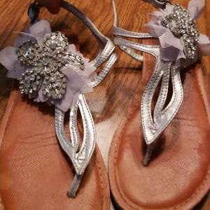 Not Rated sequin embellished sandals size 6